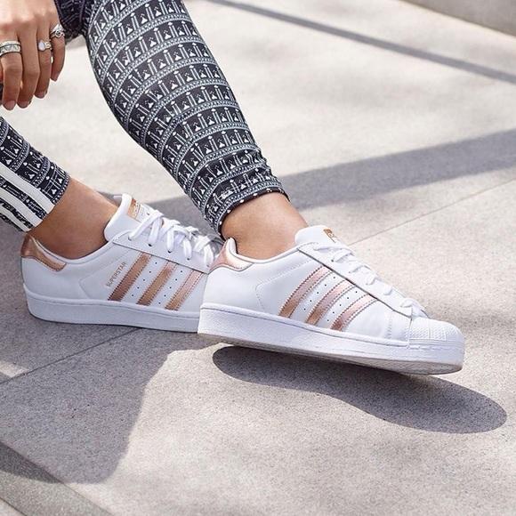 5c2240795b1 adidas Shoes - Adidas superstar rose gold size 8